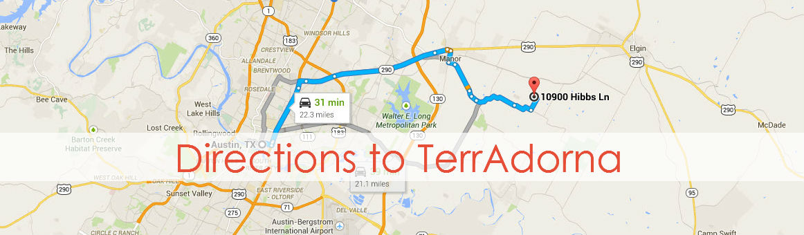 Directions to TerrAdorna