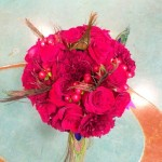 round red bouquet