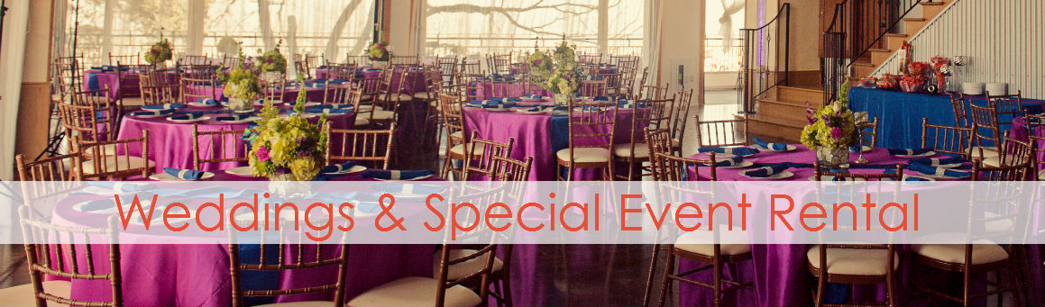 Weddings and Special Event Rental header