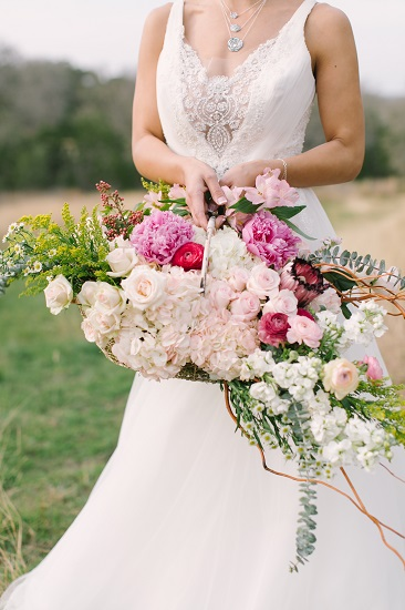 Boquet Basket and Bride