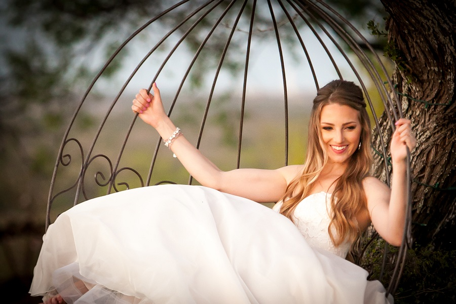 Bride in swing at Terradorna